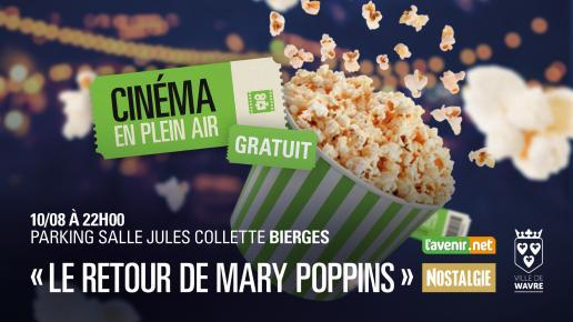 cinema en plein air LE RETOUR DE MARY POPPINS